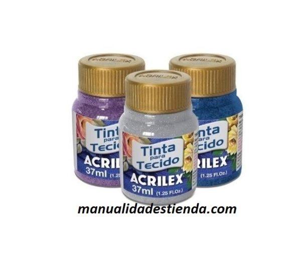 Pintura Acrilex Glitter tela Metalizada